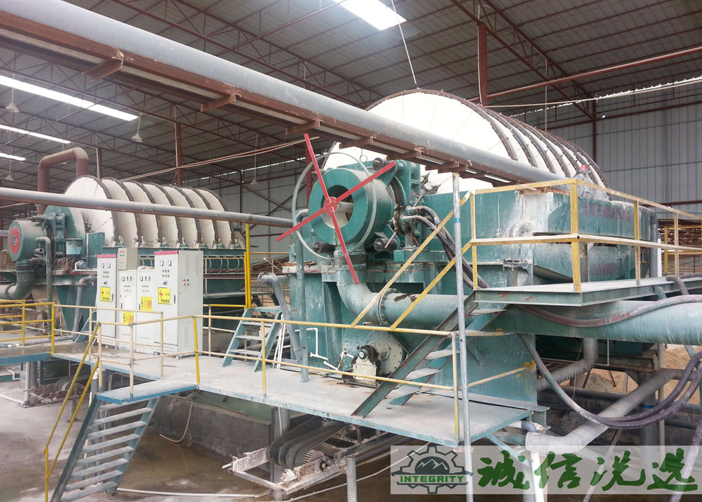 广东盘式真空过滤机处理钾长石现场