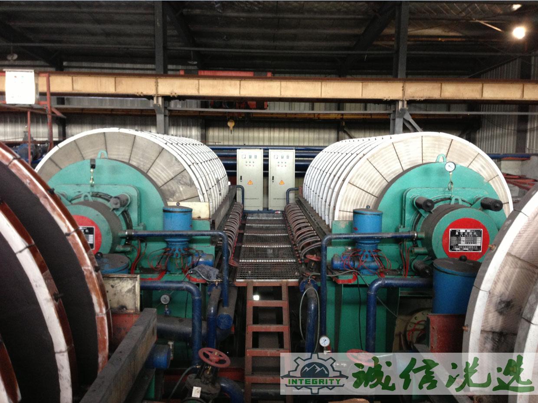 扬州盘式真空过滤机处理铁精粉现场